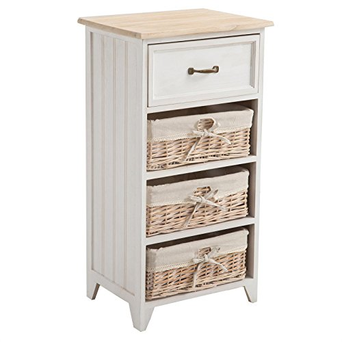 kommode mehrzweckschrank anrichte provence in wei shabby chic vintage look mit 1 schublade. Black Bedroom Furniture Sets. Home Design Ideas