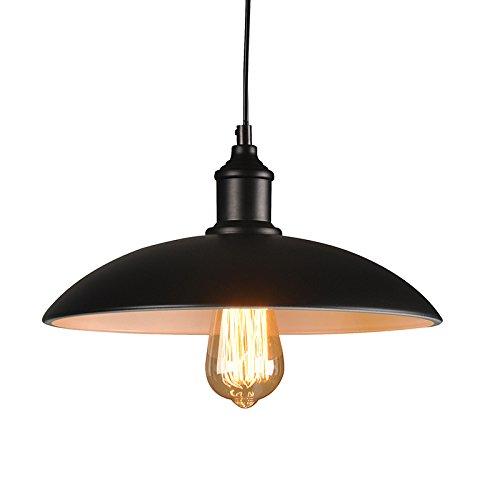 Lightess 40w industrie retro h ngelampe vintage loft deckenleuchte kronleuchter mit rustikale - Kronleuchter mit lampenschirm ...
