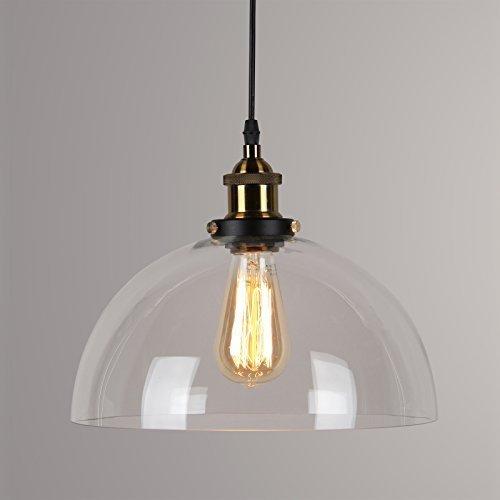Lightess Industrielle Vintage LED Pendelleuchte Hängeleuchte Glas ...