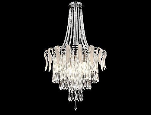 Lightess Kristall Kronleuchter Moderne Dekorative Hängelampe Innene Pendelleuchte 4 x LED Leuchtmittel für Wohnzimmer, Schlafzimmerund Restaurant usw.(4*E14 LED Glühbirne enthalten)