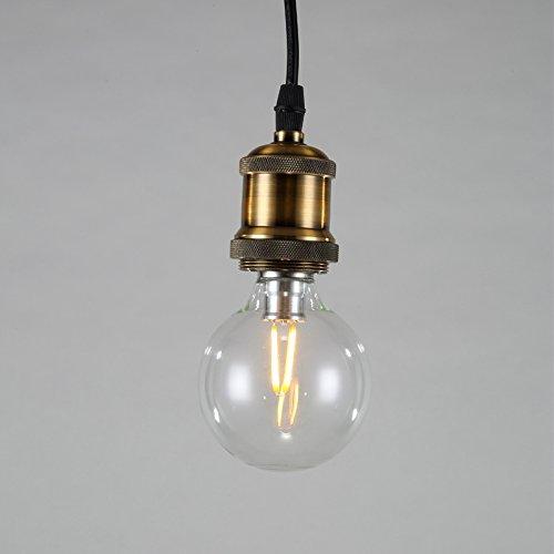lightess lampenfassung kupfer vintage retro antike edison pendelleuchte h ngelampe halter lampe. Black Bedroom Furniture Sets. Home Design Ideas