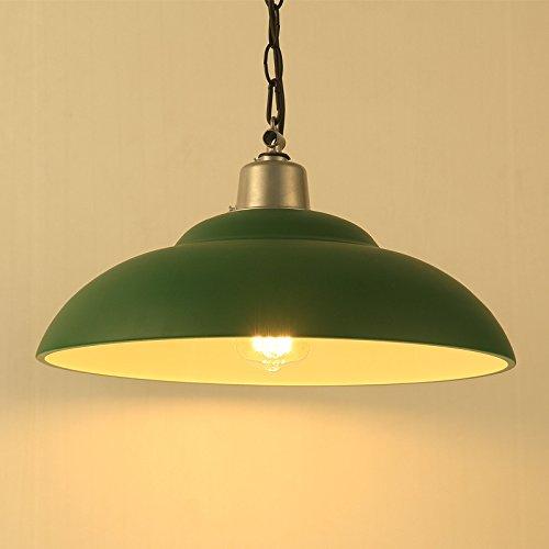 Lightess Pendelleuchte Hängelampe Industrie Kronleuchter Simplicity Metall Pendelleuchte, Industrie Deckenlampe / Deckenleuchte Geeignet für E27 LED-Lampe höhenverstellbar Retro Lampenschirm Schmiedeeisen Kronleuchter geeignet für Restaurant Bar Aisle-Leuchten grüner Oberflächer Kronleuchter