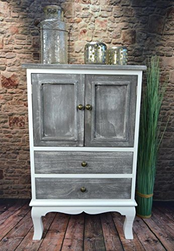 livitat kommode schrank landhaus shabby chic vintage barock grau lv1094 retro stuhl. Black Bedroom Furniture Sets. Home Design Ideas