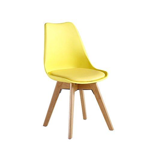 P & N Homewares® Lorenzo Tulip Stuhl Kunststoff Retro Stühle weiß schwarz grau rot gelb pink grün blau gelb
