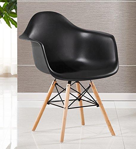 p n homewares moda wanne stuhl kunststoff retro esszimmer st hle wei schwarz grau rot gelb. Black Bedroom Furniture Sets. Home Design Ideas
