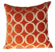 Retro Kissenhülle Chenille, Vintage Oh Design, Orange, 55,9 x 55,9 cm 55 cm x 55 cm