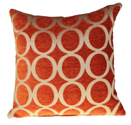 Retro Kissenhülle Chenille, Vintage Oh Design, Orange, 55,9x 55,9cm 55cm x 55cm