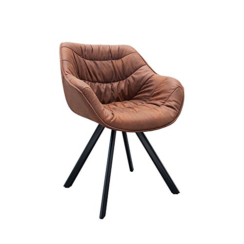 retro stuhl gepolstert the dutch comfort antik braun cognac metall esszimmer sessel polsterstuhl. Black Bedroom Furniture Sets. Home Design Ideas