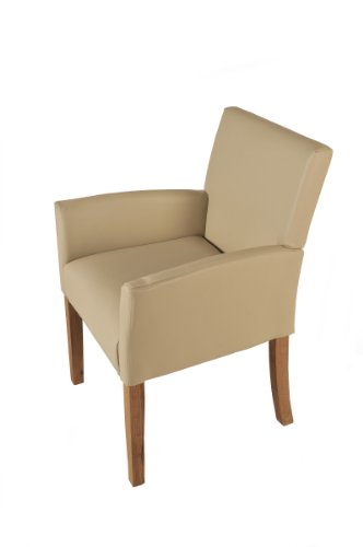 SAM® Design Armlehnstuhl in creme eiche CALBOLA Polsterstuhl Stuhl komfortabel