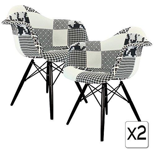 Verkauf 2 x design stuhl eiffel stil schwarz holz beine for Design stuhl eiffel