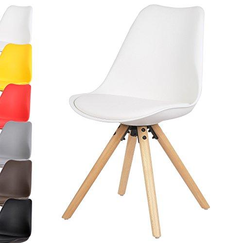Woltu 1 stuck esszimmerstuhl design stuhl kuchenstuhl for Küchenstuhl wei holz
