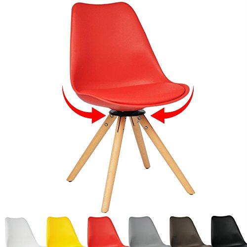 Woltu 1 x esszimmerstuhl bh57rt 1 c essstuhl design stuhl for Essstuhl drehbar