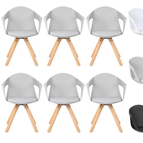 woltu esszimmerstuhl 6er set esszimmerst hle k chenstuhl wohnzimmerstuhl mit arm und. Black Bedroom Furniture Sets. Home Design Ideas