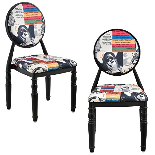 2 x design patchwork polsterstuhl bunt schwarz retro sessel retro stuhl. Black Bedroom Furniture Sets. Home Design Ideas