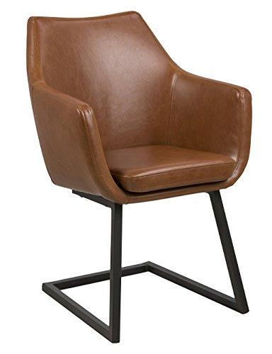 AC Design Furniture Trine Stuhl, Lederimitat, Cognac, 59 x 58 x 83,5 cm