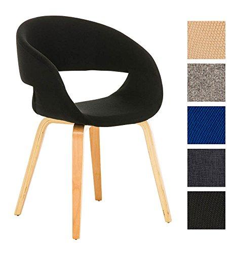 Clp besucher stuhl pano mit armlehne gepolstert for Stuhl mit armlehne schwarz