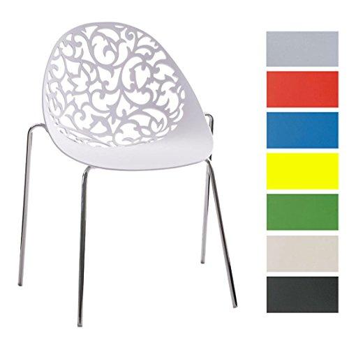 Clp design retro stapelstuhl faith materialmix kunststoff for Design stapelstuhl