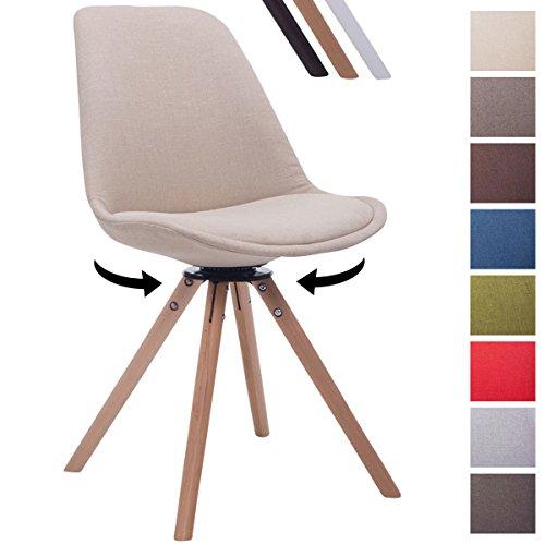 CLP Design Retro Stuhl TROYES RUND Stoff Sitz Gepolstert
