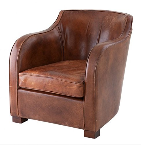 chesterfield luxus echt leder ohrensessel scotland vintage leder tobacco braun von casa padrino. Black Bedroom Furniture Sets. Home Design Ideas