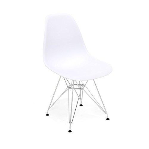 hochwertige tower replica eames stuhl polypropylen und stahl wei retro stuhl. Black Bedroom Furniture Sets. Home Design Ideas