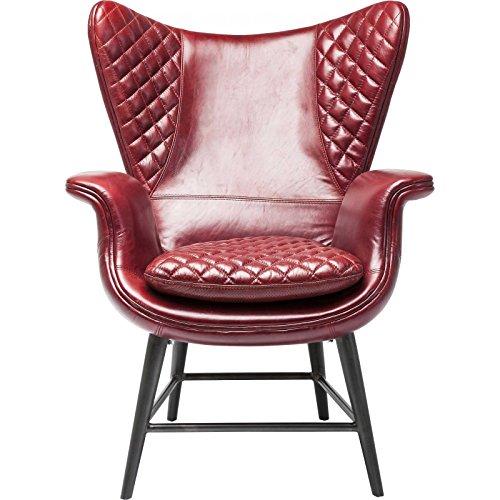 kare 79524 sessel tudor leather rot retro stuhl. Black Bedroom Furniture Sets. Home Design Ideas