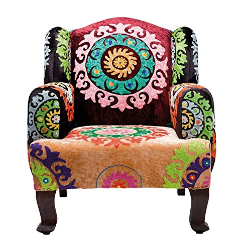 kare mandala sessel andere bunt 90 x 85 x 105 cm retro stuhl. Black Bedroom Furniture Sets. Home Design Ideas