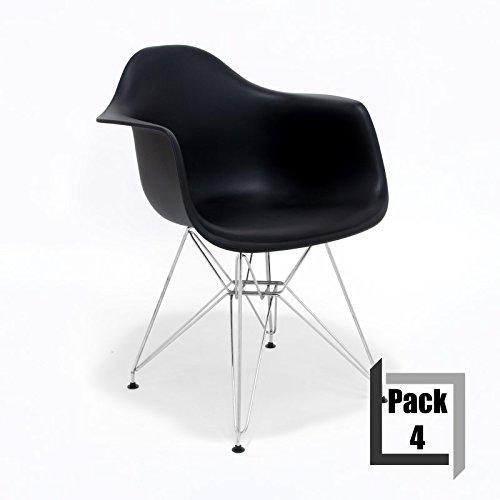 pack von 4 st hle tower replica eames hochwertige. Black Bedroom Furniture Sets. Home Design Ideas