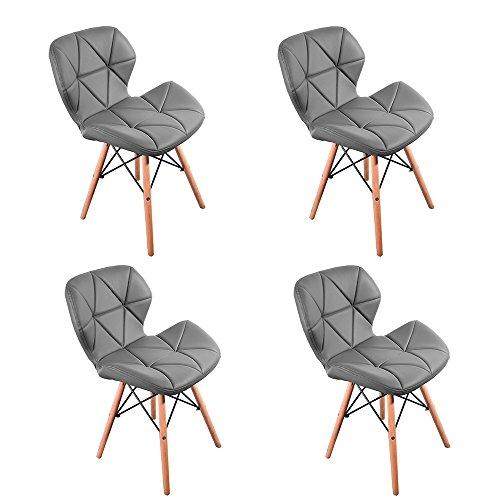 Retro stuhl panana 4er set wohnzimmerstuhl modern eiffel for Stuhl esszimmer modern