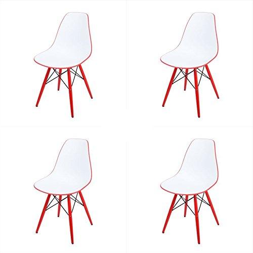arredinitaly set 4 st hle zweifarbig replica design in polypropylen red retro stuhl. Black Bedroom Furniture Sets. Home Design Ideas