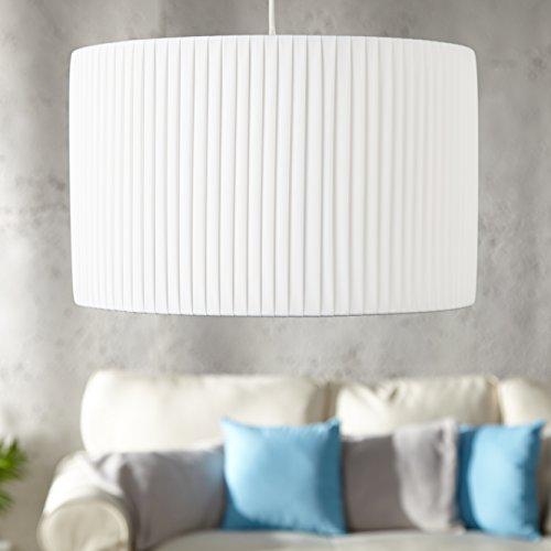 cag design plissee h ngelampe loop weiss rund 40cm. Black Bedroom Furniture Sets. Home Design Ideas