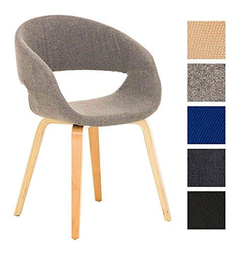 clp besucher stuhl pano mit armlehne gepolstert holzgestell modern hellgrau retro stuhl. Black Bedroom Furniture Sets. Home Design Ideas
