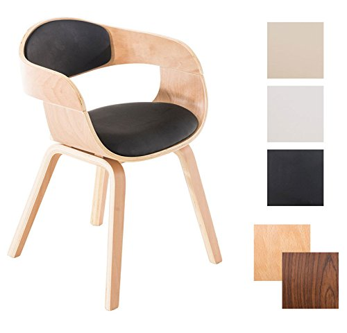 clp retro besucher stuhl kingston mit armlehne gepolstert. Black Bedroom Furniture Sets. Home Design Ideas