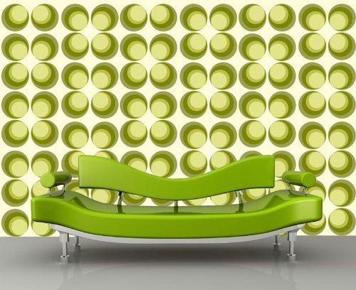 fototapete retrokreise gr n muster kt97 gr e 400x280cm retro muster tapete gr n retro stuhl. Black Bedroom Furniture Sets. Home Design Ideas