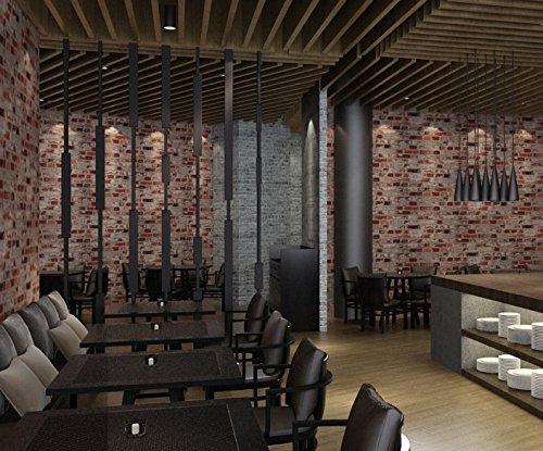 moderne 3d grau brick muster tapete antik restaurant und