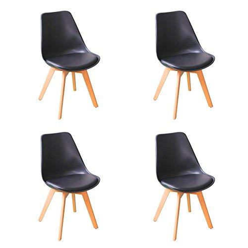 4er Schwarz Essstühle Küchenstühle Esstischstühle mit