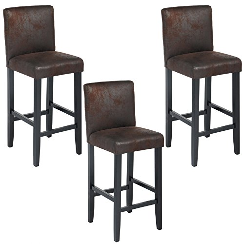 woltu bh38sz 3 barhocker bistrostuhl bistrohocker mit lehne 3er set schwarze beine aus. Black Bedroom Furniture Sets. Home Design Ideas
