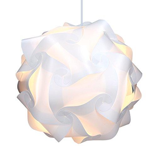 kwmobile diy puzzle lampe xl lampenschirm schirm teile set mit netzkabel schalter e27 fassung. Black Bedroom Furniture Sets. Home Design Ideas