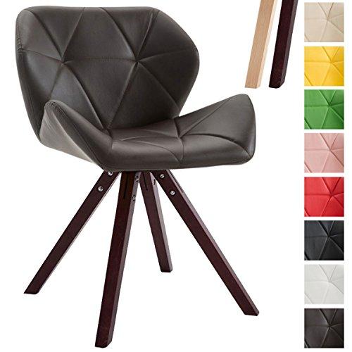 Clp design retro stuhl tyler bein form square kunstleder for Designer stuhle sale
