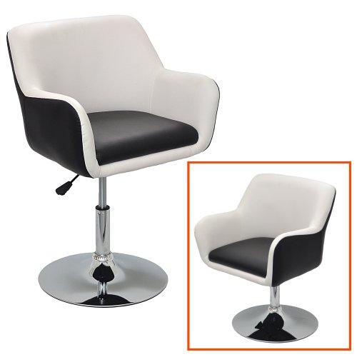 1x Barhocker Design Lounge Sessel In Schwarz Weiß Barsessel