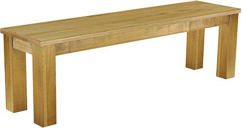 Brasilmöbel Sitzbank 'Rio Classico' 150 cm, Pinie Massivholz, Farbton Brasil