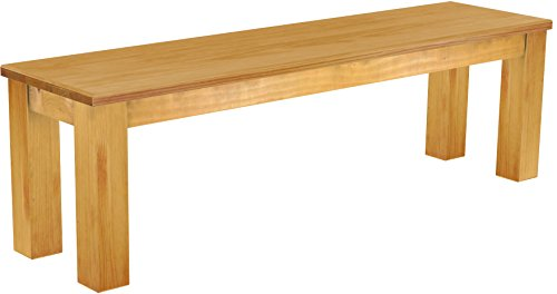 Brasilmöbel Sitzbank 'Rio Classico' 150 cm, Pinie Massivholz, Farbton Honig