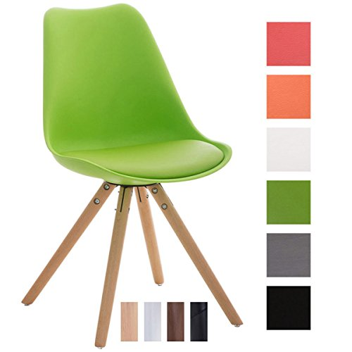 Clp design retro stuhl pegleg mit hochwertiger polsterung for Design schalenstuhl