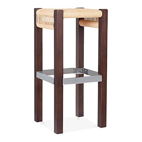 Cult Design Mayfair Hocker - Dunkelbraun / Natur Sitz 75cm