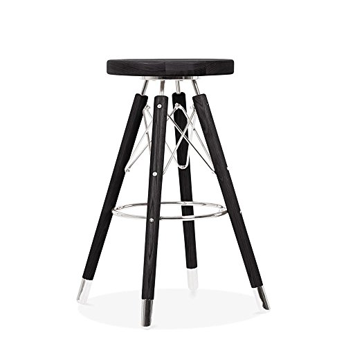 Cult Design Moda Bar Stool CD2, Solid Beech Wood, Black 65cm