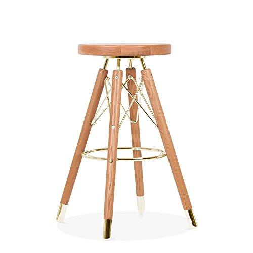 Cult Design Moda Bar Stool CD2, Solid Beech Wood, Natural 65cm