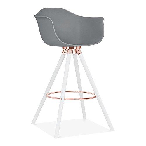 Cult design moda barhocker mit armlehne cd2 grau retro stuhl - Stuhl mit armlehne grau ...