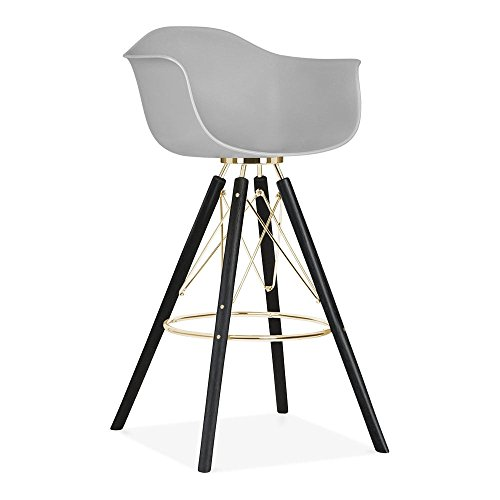 cult design moda barhocker mit armlehne cd3 hellgrau. Black Bedroom Furniture Sets. Home Design Ideas