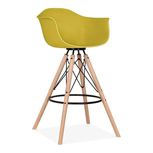 cult design moda barhocker mit armlehne cd3 olivgr n. Black Bedroom Furniture Sets. Home Design Ideas