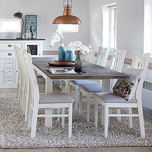 Esstisch Mit Stühlen In Weiß Und Braun Skandinavisch 9