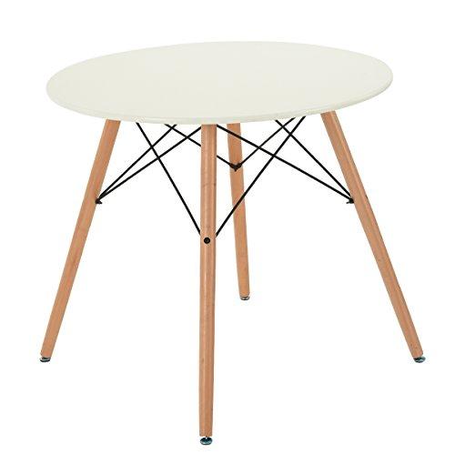 FurnitureR 80CM Speisen runder Tabellen neuer Art moderner Retro Schreibtisch mit Buche hölzernen Beinen